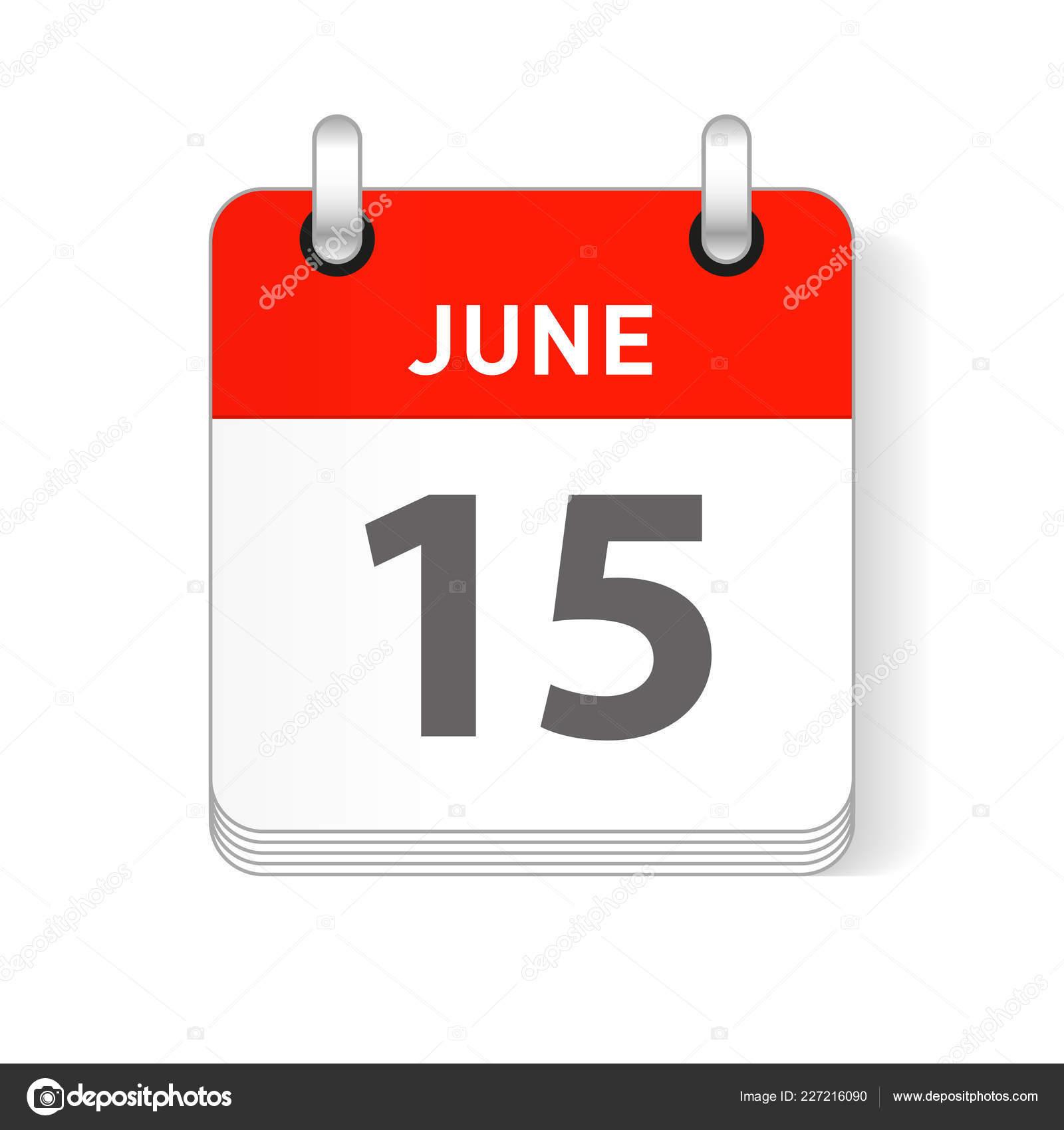 Page Calendrier.Juin Date Visible Sur Une Page Calendrier Organisateur Jour