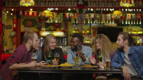 Happy Friends Taking Selfie At Restaurant Or Bar.
