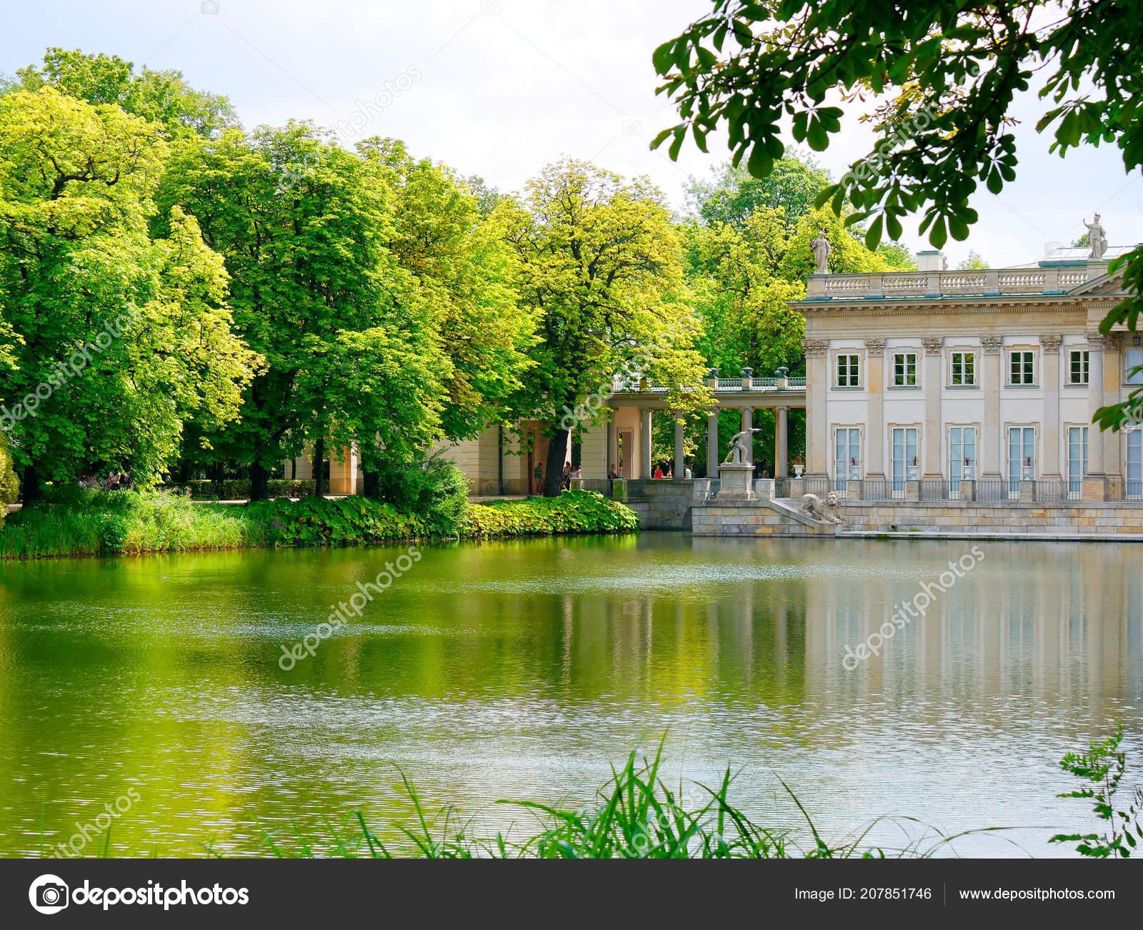 Palace Isle Royal Lazienki Lazienki Park Warsaw Poland