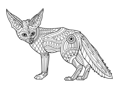 Coloring Pages Fox Premium Vector Download For Commercial Use Format Eps Cdr Ai Svg Vector Illustration Graphic Art Design