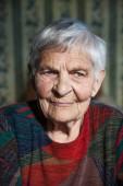 Photo of an elderly beautiful woman 95 years