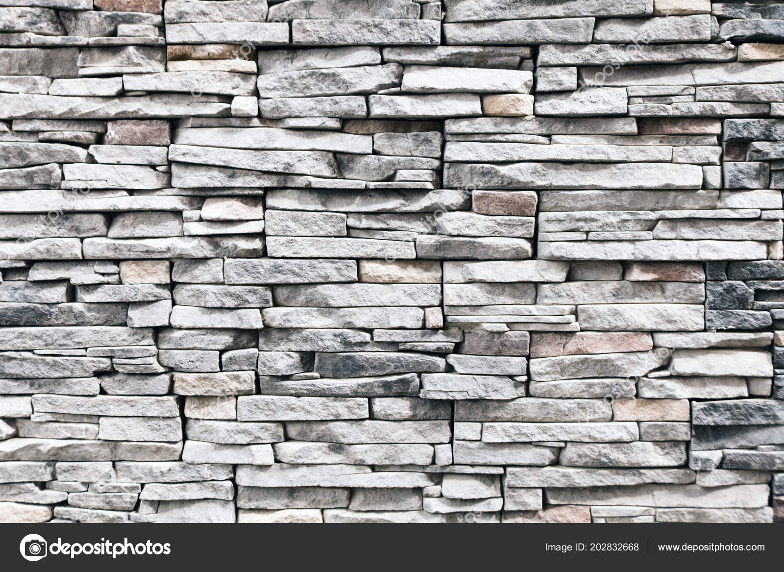 Pattern Decorative Black Slate Stone Wall Surface Grey Brick
