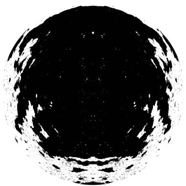 Abstract Ink Blot. Grunge Black Brush Sample. Dark Paint Stroke Texture Isolated On White. Overlay Element stock vector