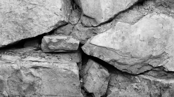 Footage retro stone wall background texture.