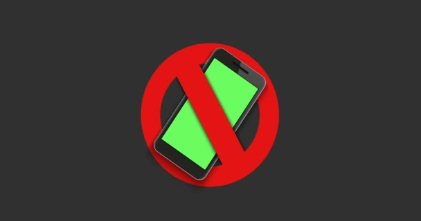 animation modern sign - turn off the phone