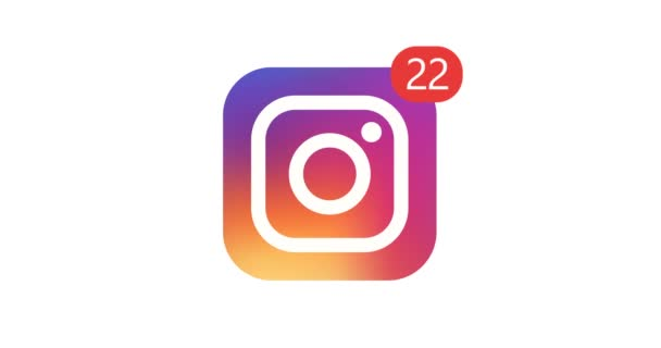 Samara, Russian Federation - August 1, 2018: Editorial animation. Instagram logo icon with counter likes, followers. Instagram most popular social network for the placement of photos and video