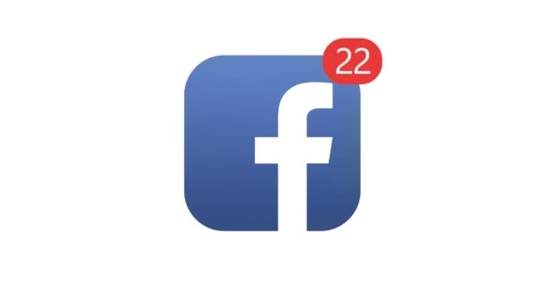 Samara, Russian Federation - August 4, 2018: Editorial animation. Facebook logo icon with counter likes, followers. Facebook is the most popular social network in the world.