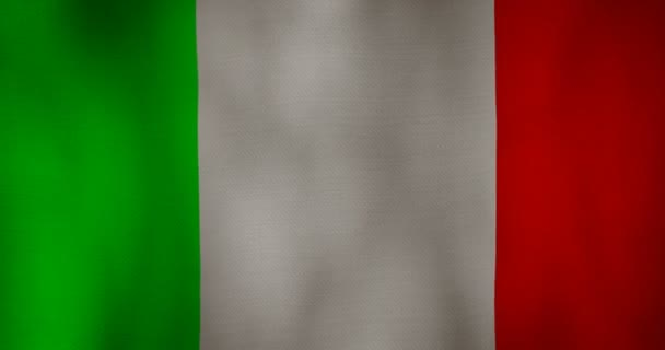 Italy flag fabric texture waving in the wind