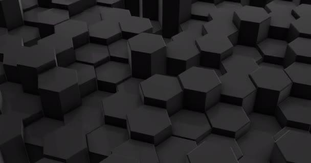 Smyčka-abstraktní černý šestiúhelník