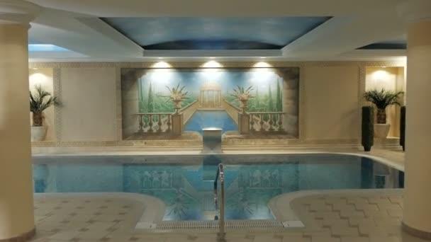 Spa hotel interior pool