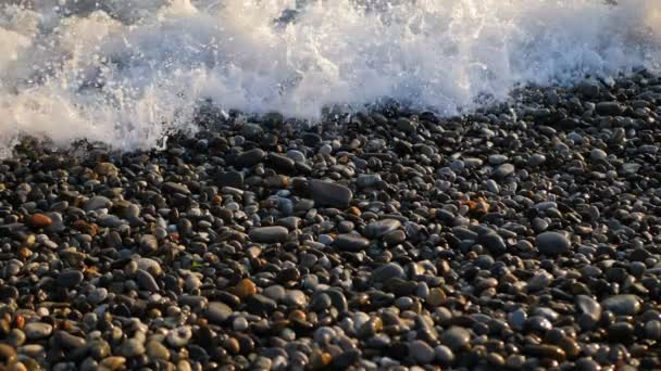 Mořská vlna se během západu slunce