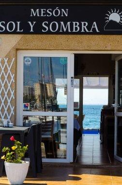 LA MANGA, SPAIN - MARCH 4, 2019 Restaurant  in La Manga  del Mar