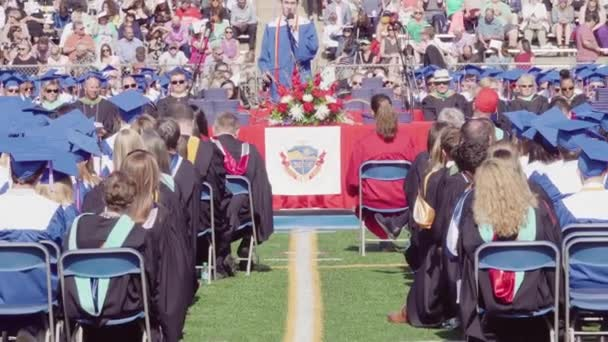 Denver, Colorado, USA-May 24, 2018-Graduation ceremony of Cherry Creek High School.