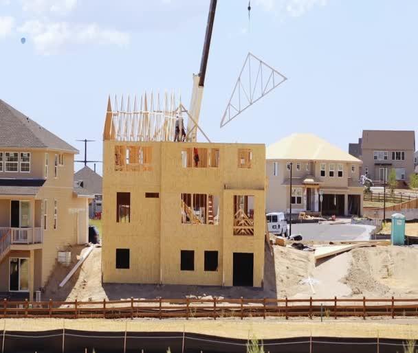 New construction of suburban neighborhood