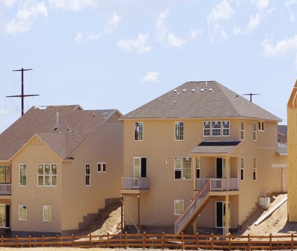 New construction of suburban neighborhood.