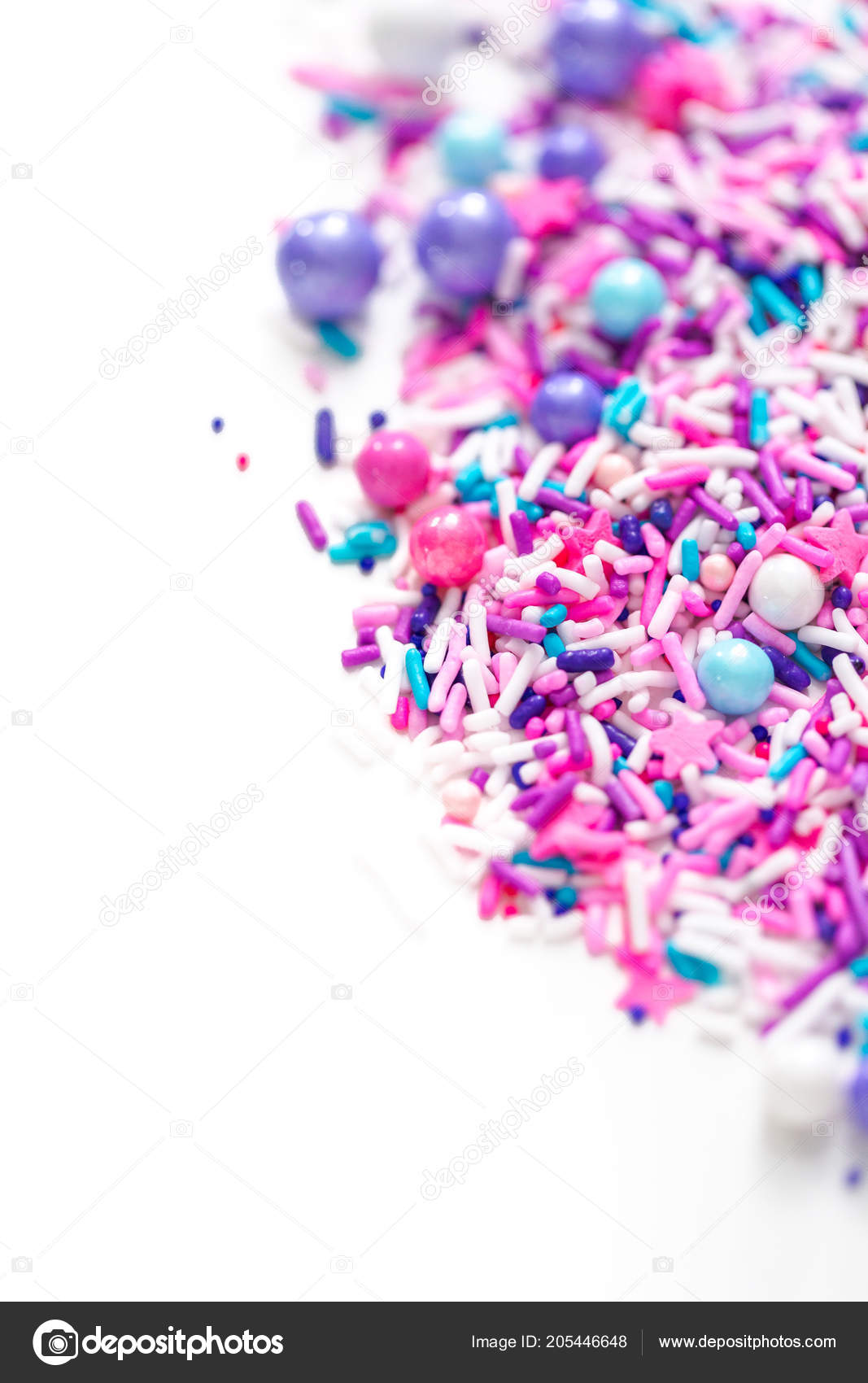 Colorful Purple Sprinkle Blend White Background — Stock