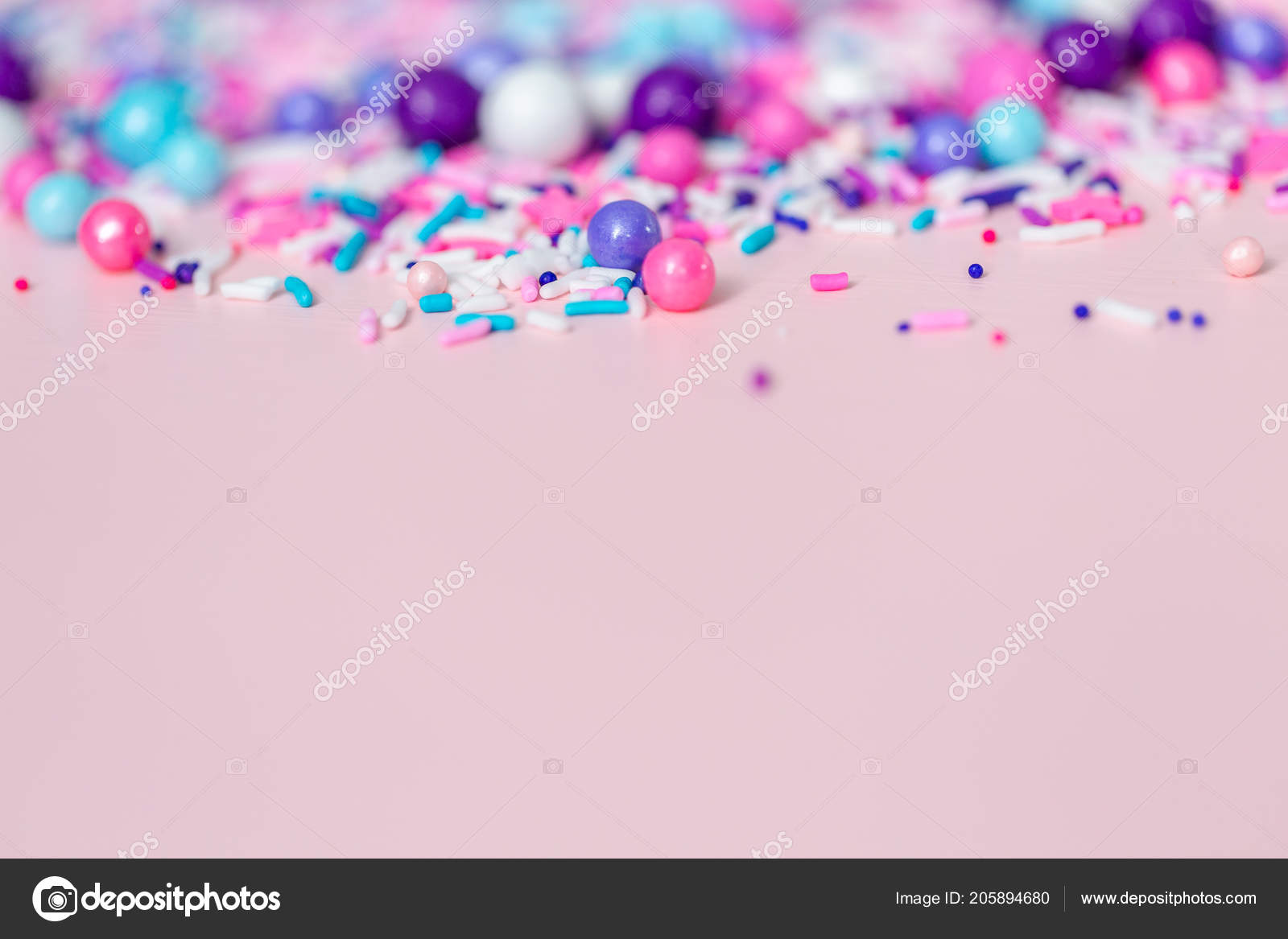 Colorful Purple Sprinkle Blend Pink Background — Stock Photo