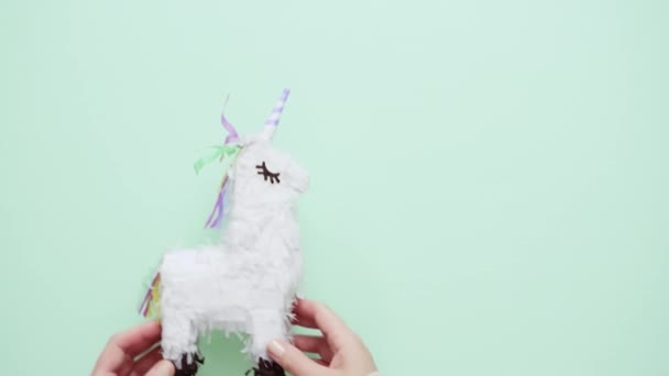 Small unicorn pinata for kids birthday party