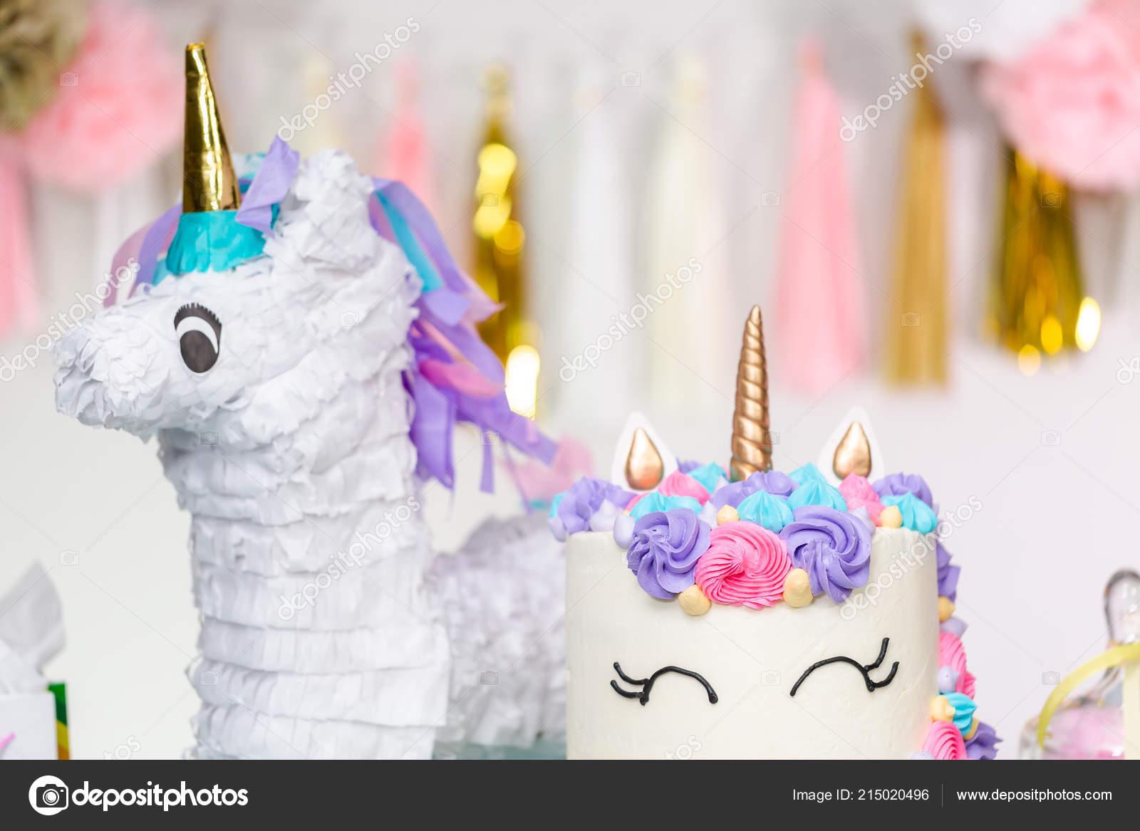 Nina Cumpleanos Fiesta Mesita Con Unicornio Pastel Cupcakes Cookies