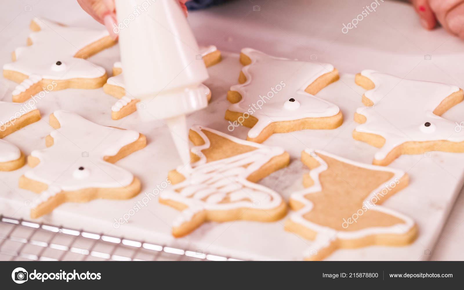 Unocrn Decoration Forme Biscuits Sucre Avec Glacage Royal Pour