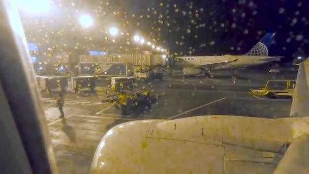 Denver Colorado Usa January 2019 Window Seat Passenger Airplane