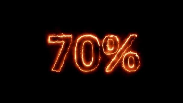 70 Prozent Feuer in 4k