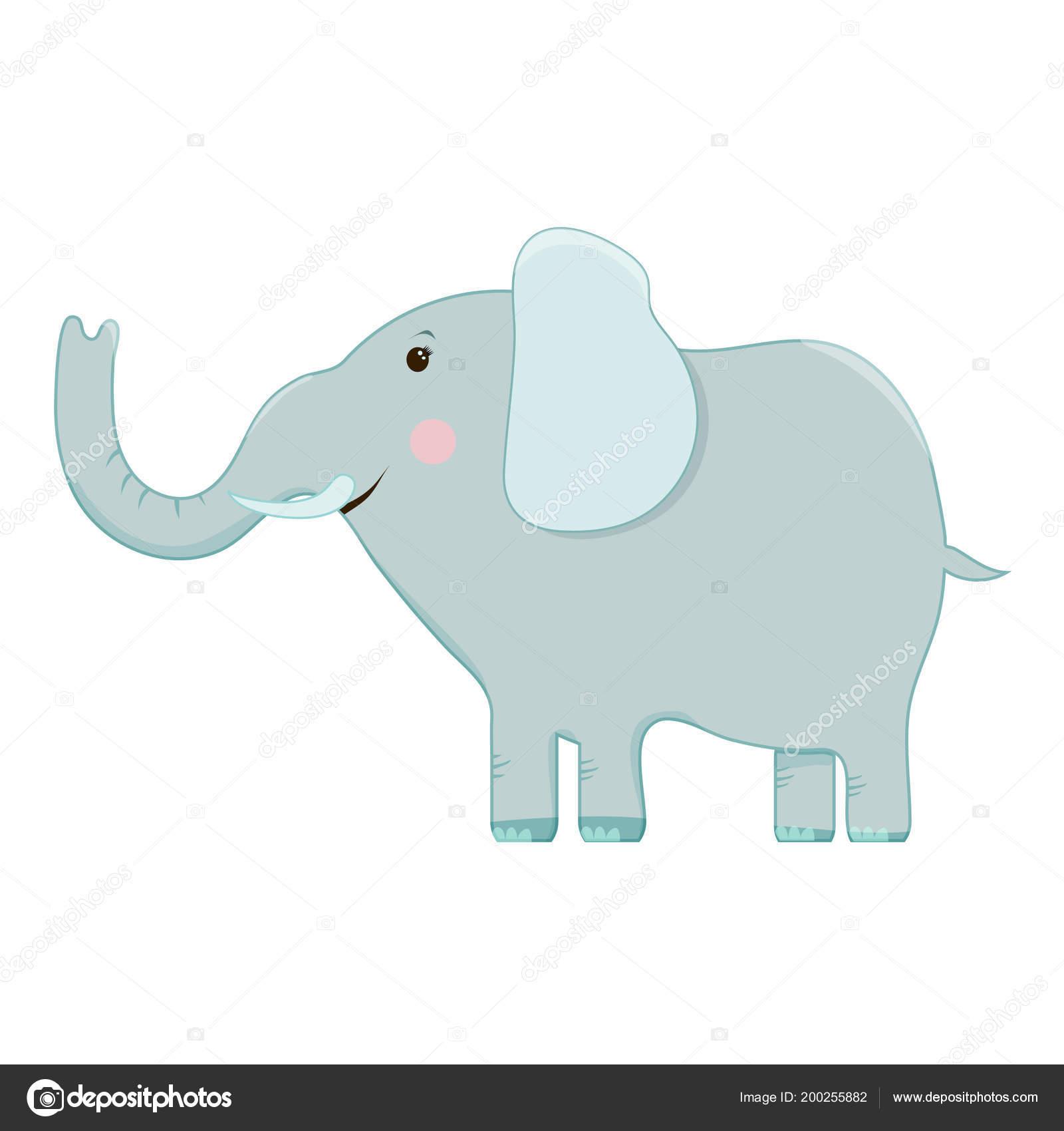 conjunto de vetores de imagens dos desenhos animados de elefantes