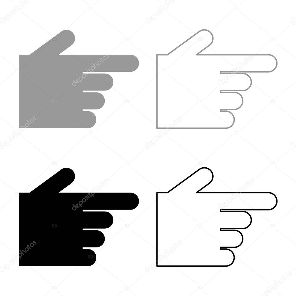 pointing hand icon set grey black color outline premium vector in adobe illustrator ai ai format encapsulated postscript eps eps format wdrfree