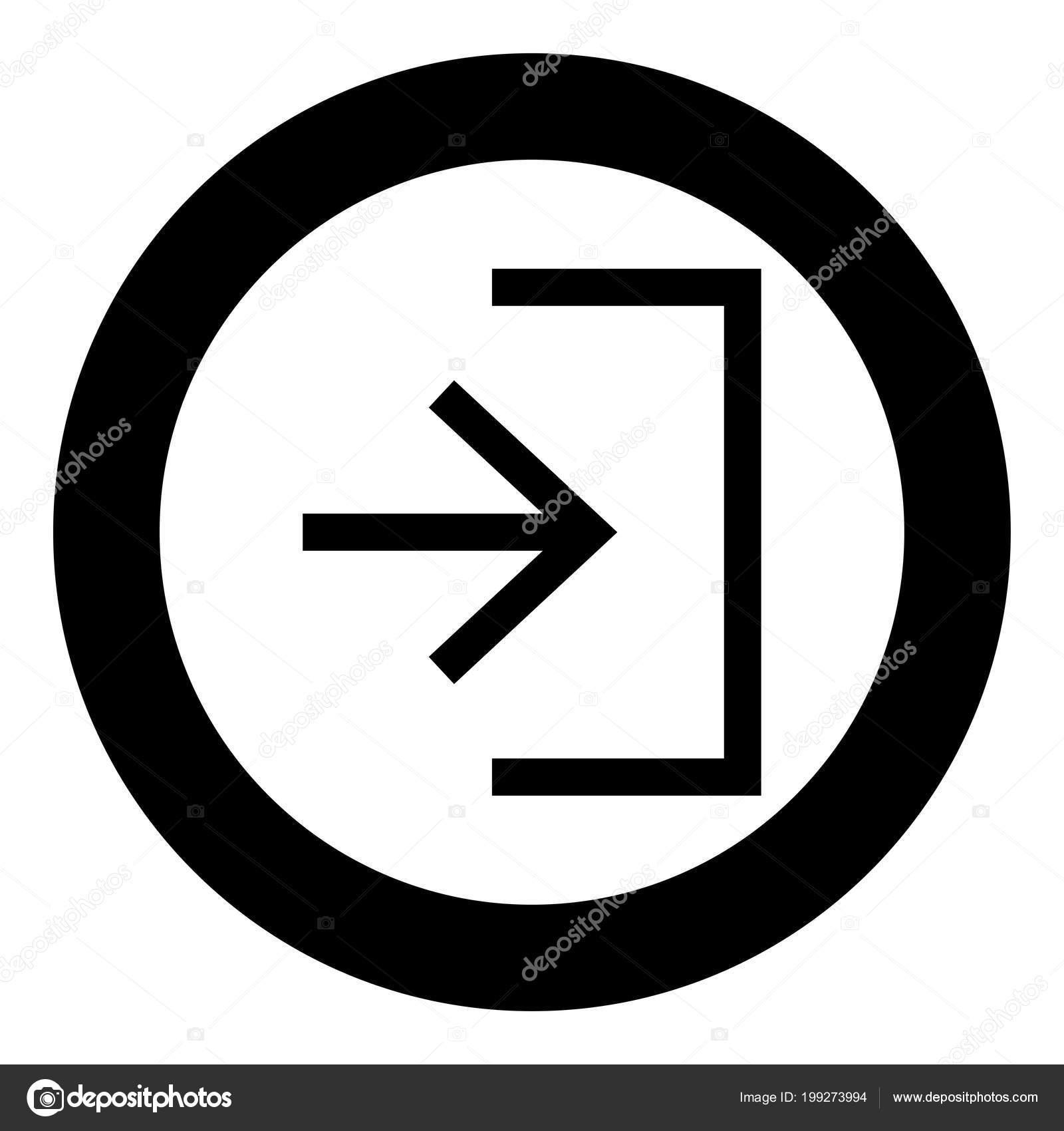 eintrag eingabe türfarbe schwarz symbol kreis vektor illustration