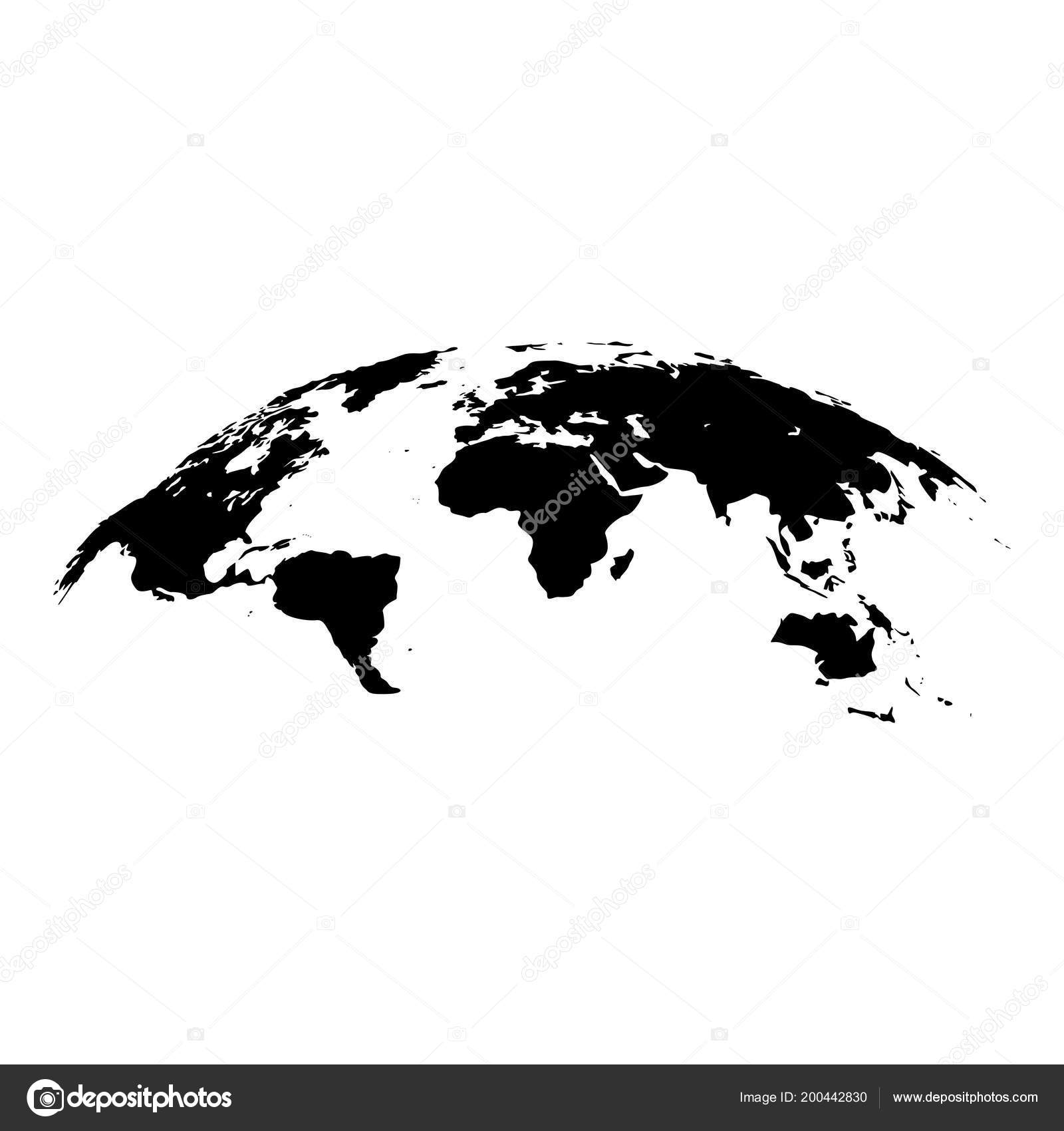 Image of: Map World Effect Surface Icon Black Color Vector Illustration Flat Stock Vector C Seregasss435 200442830