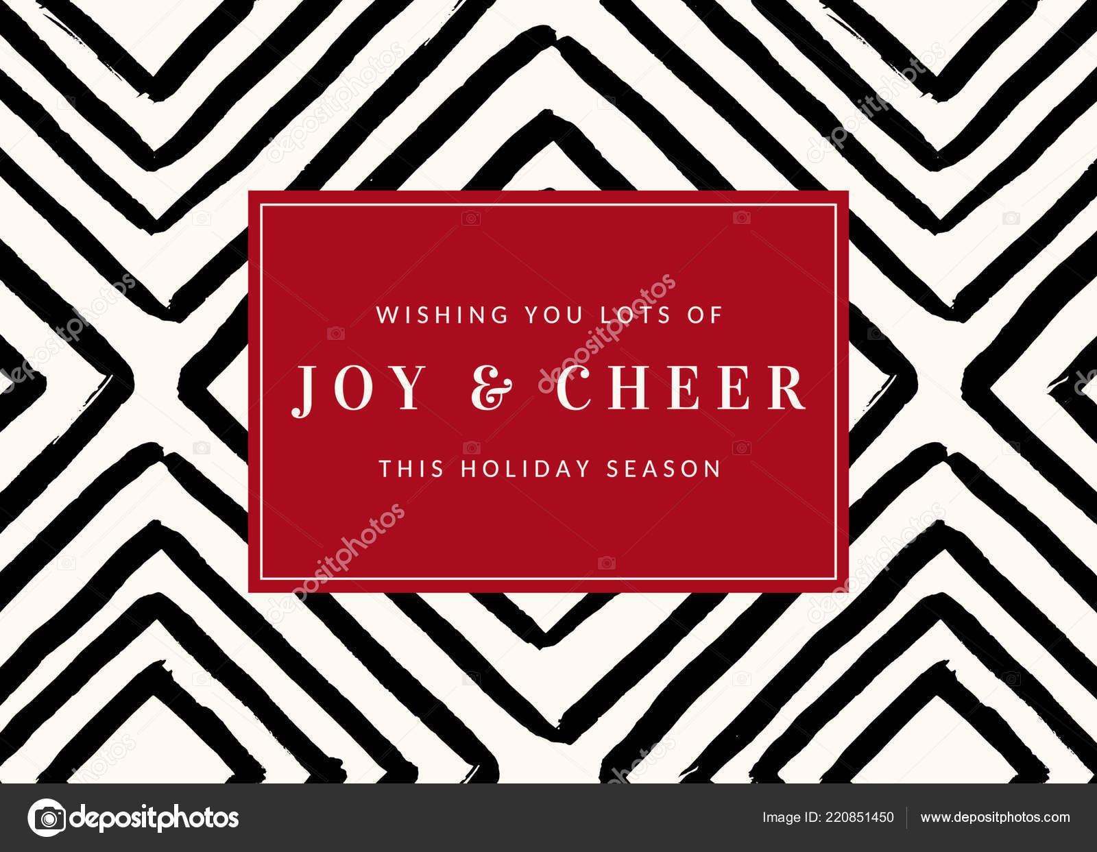 Weihnachtsmotiv Mit Geometrischen Muster Schwarz Weiß Und Text