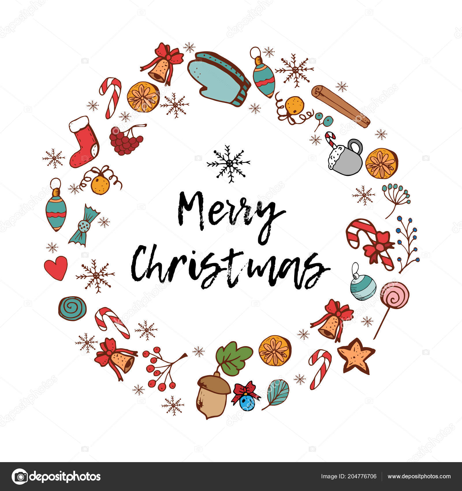 Merry Christmas Card Festive Items Holiday Frame Greeting Card New ...