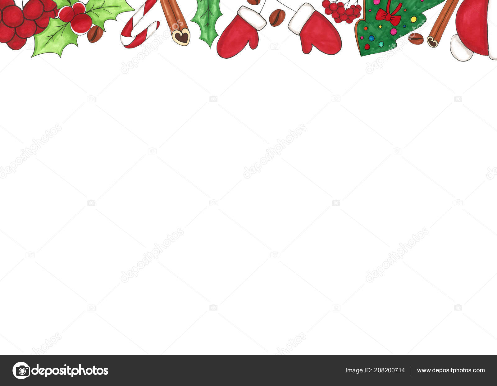 Christmas Background Christmas Frame Copy Space Place Text Mistletoe