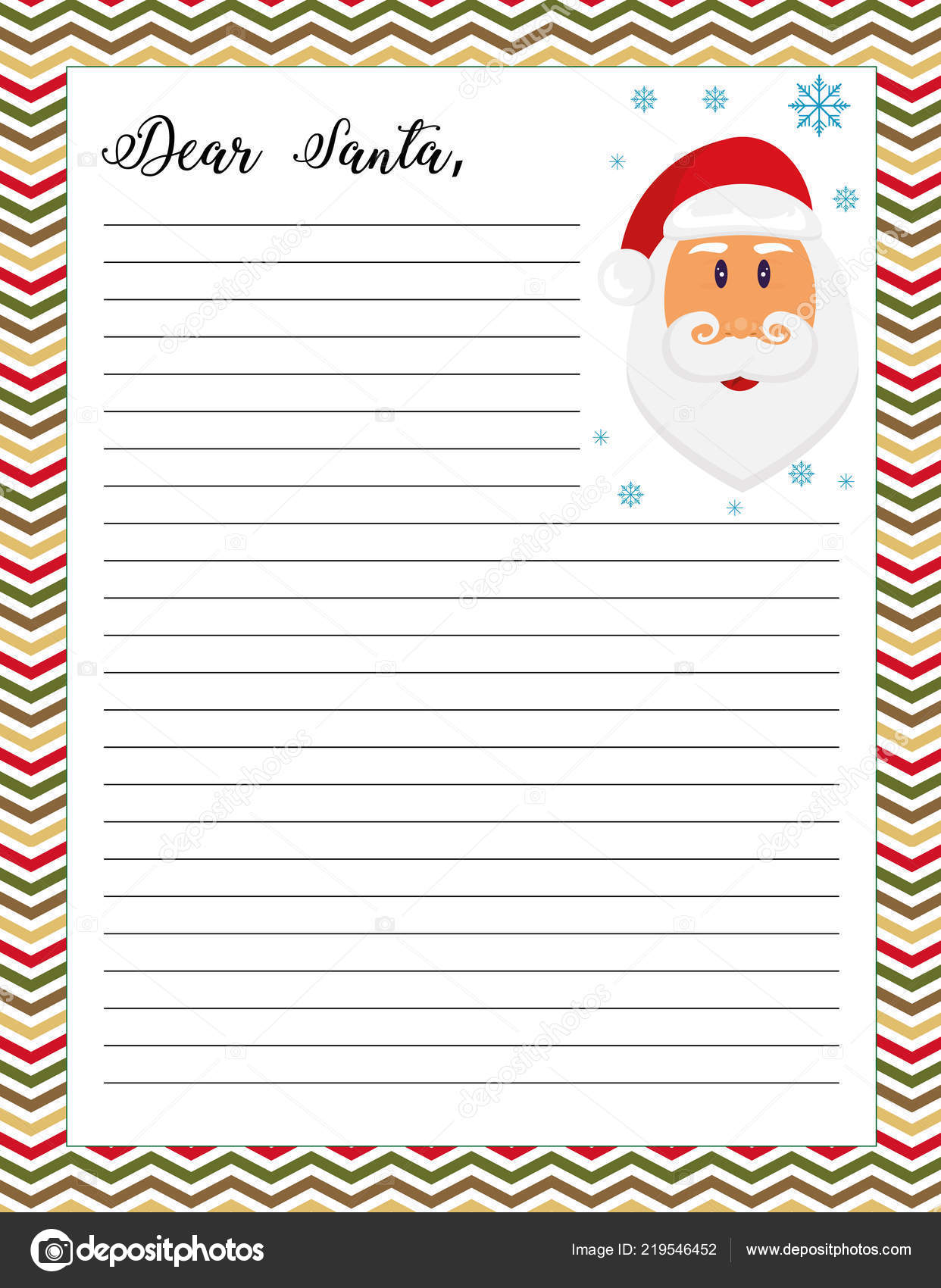 picture regarding Letter From Santa Printable called Letter Santa Printable Website page Santa Claus Case in point Inventory