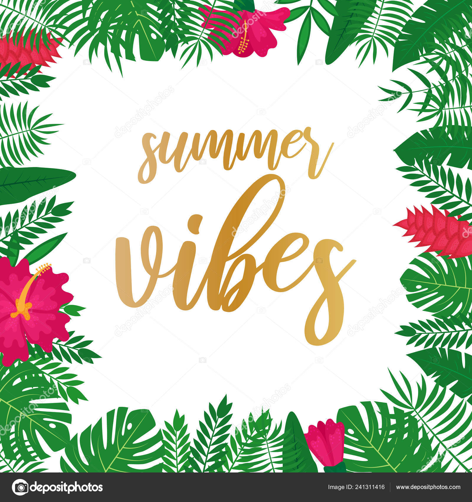 Summer Vibes Vector Background Poster Web Page Flyer Greeting Card