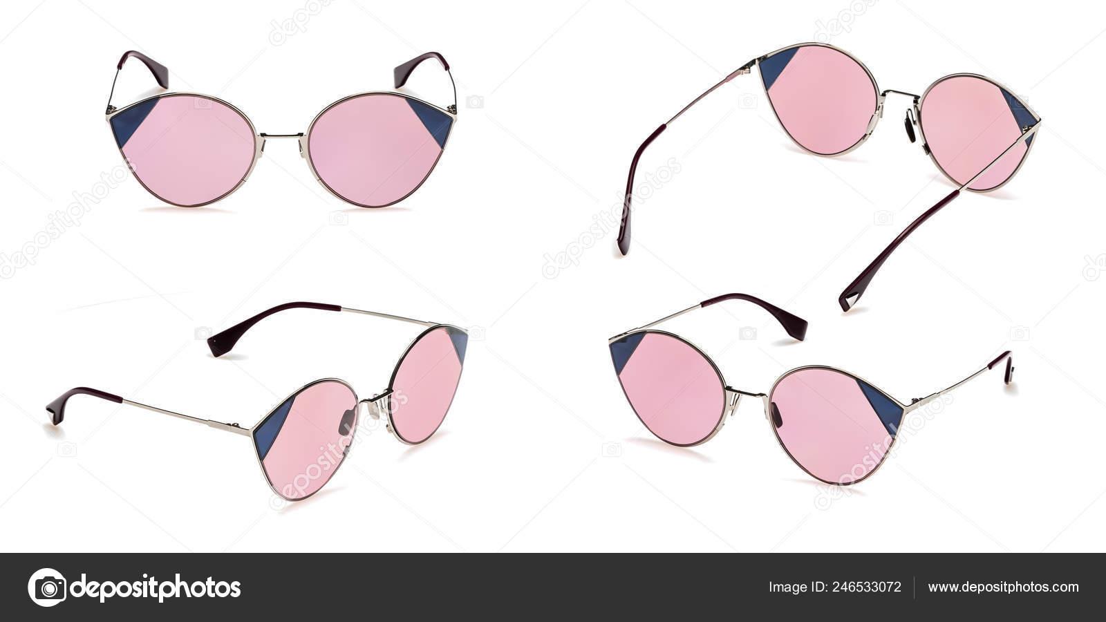 dc319ec373 Για να ορίσετε ρετρό ροζ γυαλιά ηλίου σε στρογγυλό πλαίσιο που  απομονώνονται σε λευκό φόντο. Συλλογή μόδας καλοκαιριού Vintage γυαλιά  ηλίου– εικόνα αρχείου