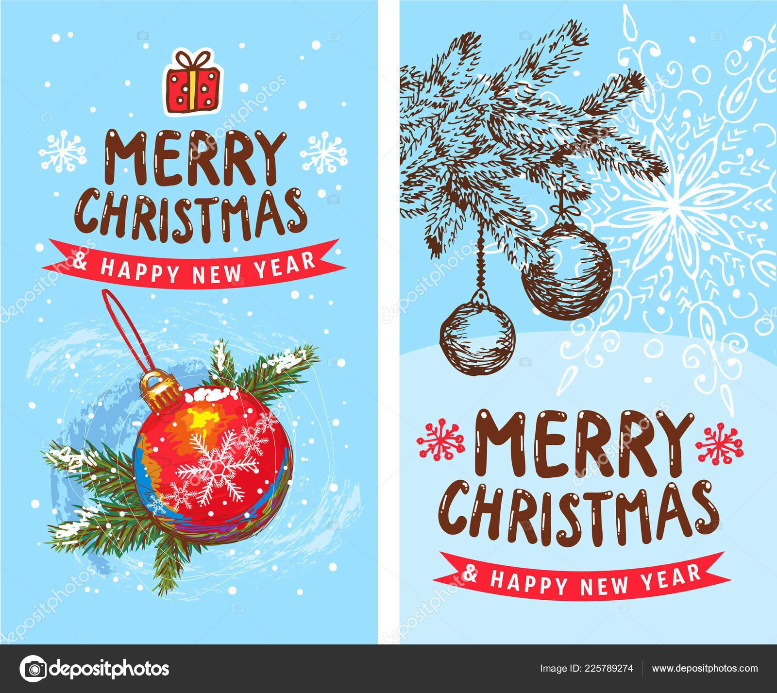 Vrolijk Kerstmis Gelukkig Nieuwjaar 2019 2 Grappige Kaart Ontwerp