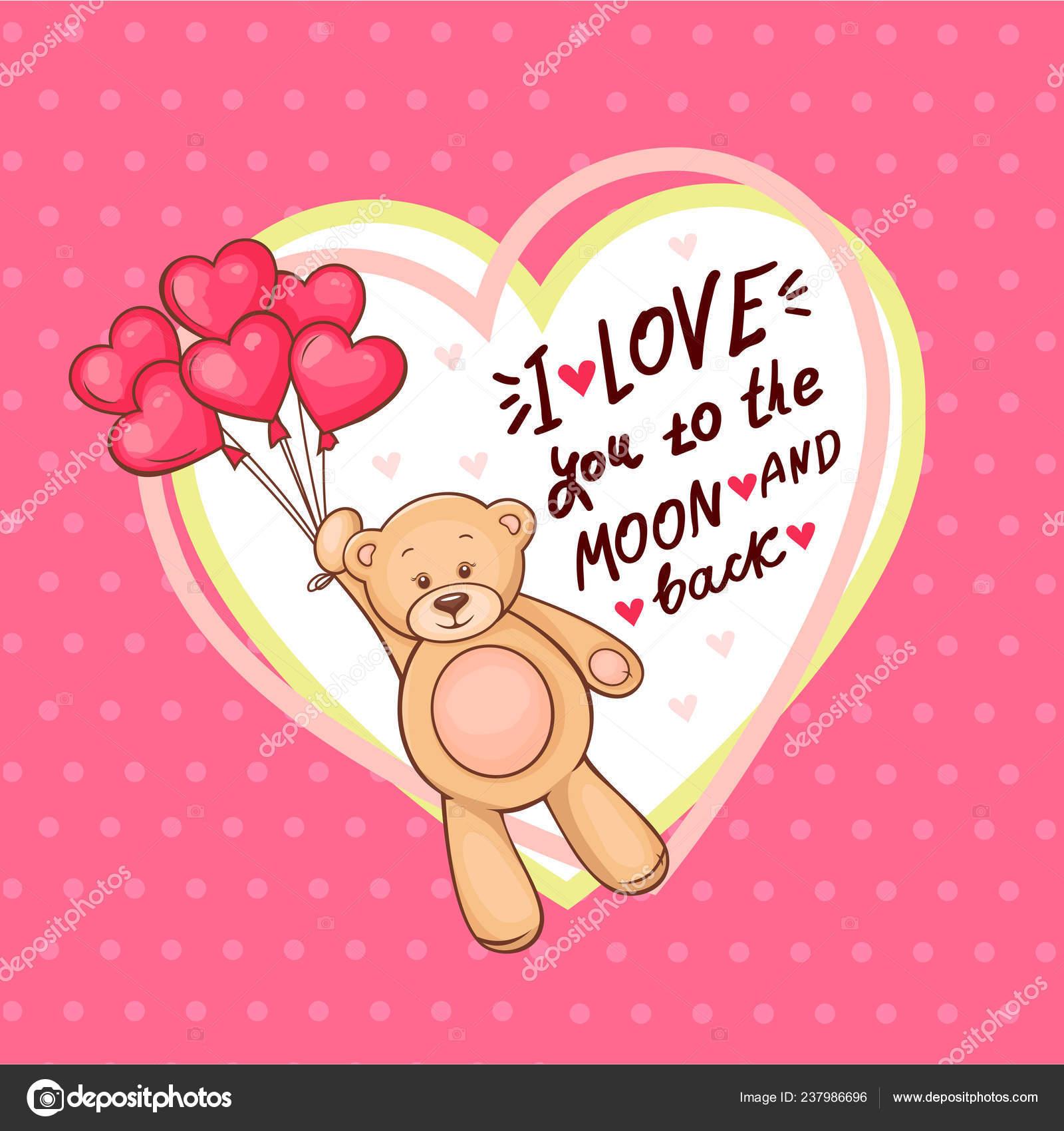 Urso De Pelúcia Fofo Dia Dos Namorados Com Grande Coração