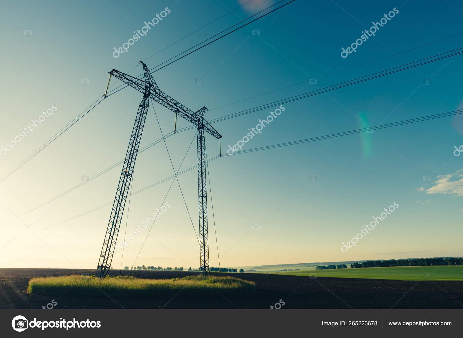 времени суток картинка линия электропередач на фоне крыма или