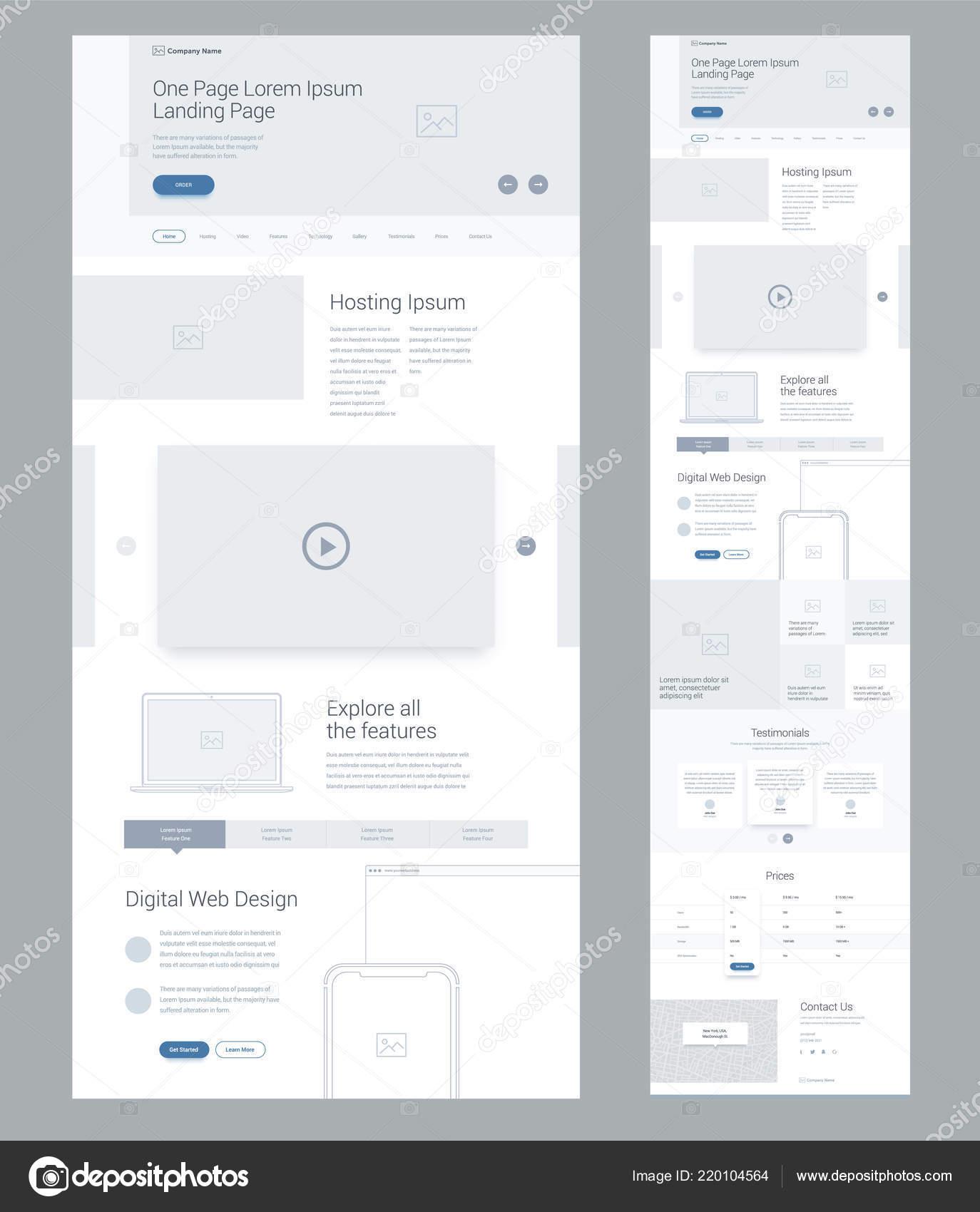 Modèle Conception Site Web Une Page Pour Les Entreprises Landing