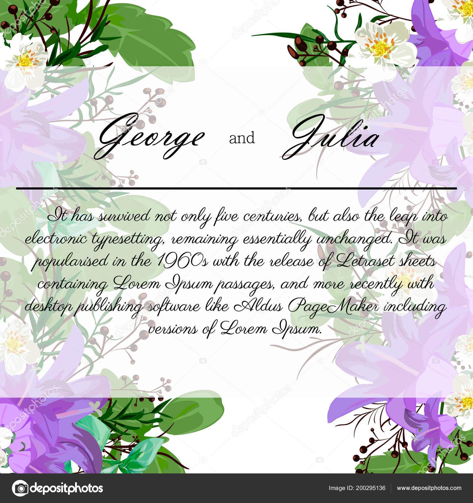 Wedding Invitation Card Invite You Design Flowers