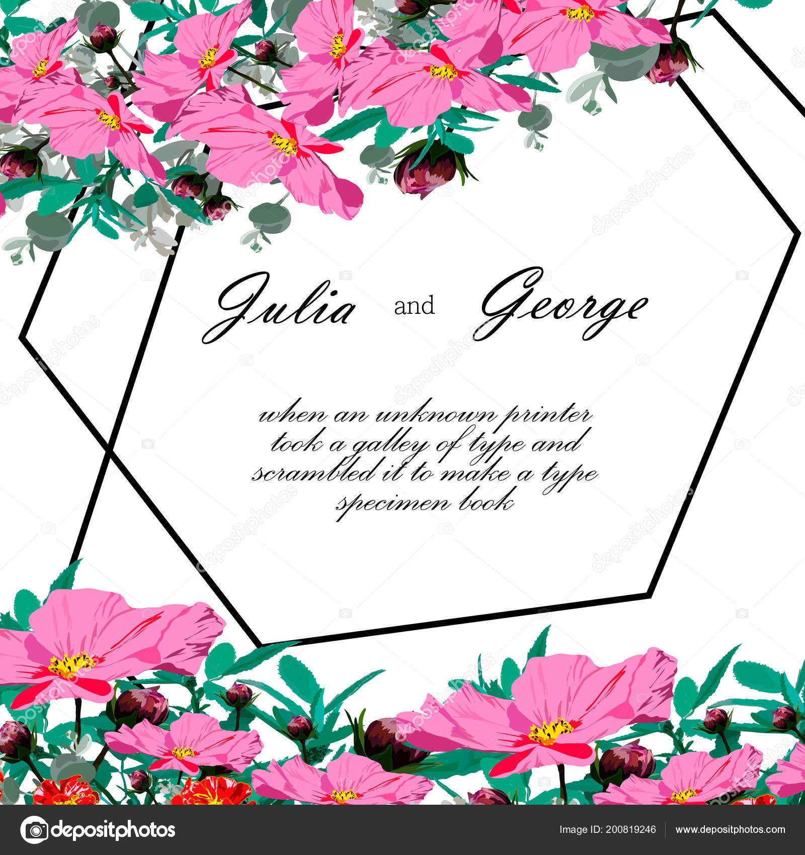 Illustrazione Desktop Fiori Rose Invito Festivo Fiori Sono Rosa