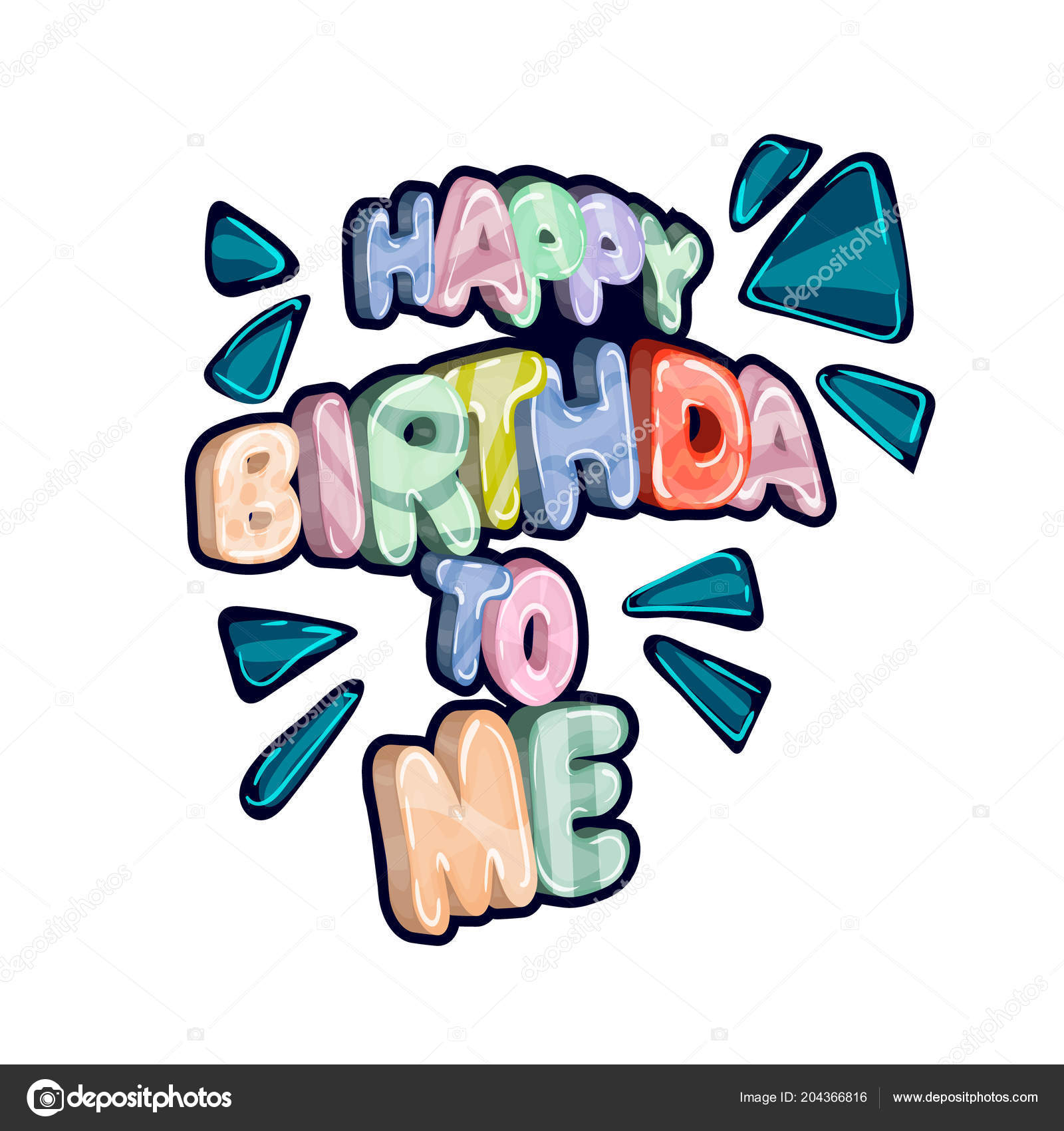 picture relating to Happy Birthday Printable Letters identified as Vector: pleased birthday letters in direction of print Joyful Birthday