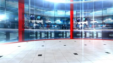 3D rendering Virtual set studio for chroma footage Realize your vision for a professional-looking studio  wherever you want it. With a simple setup, a few square feet of space, and Virtual Set ,