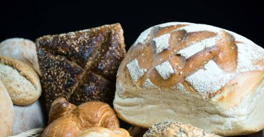 variety of fresh homemade breads and pastries