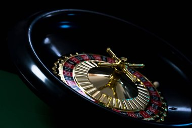 casino background, roulette wheel in motion