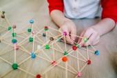 dětské tvorby geometrických tvarů, inženýrství a kmenových