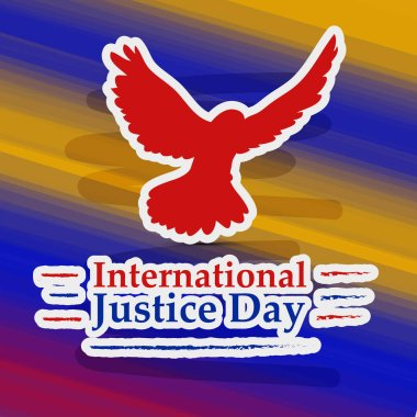 Illustration of background for International Justice day background