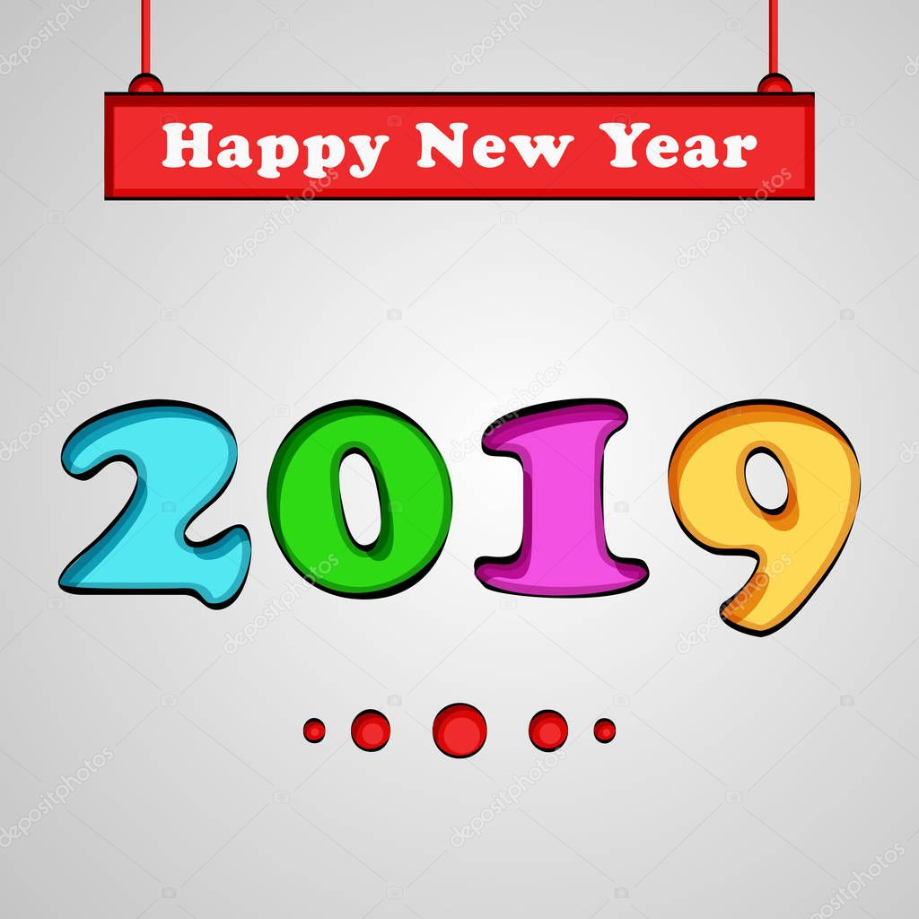 illustration of elements of new year background