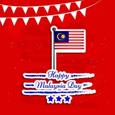 Illustration of Malaysia Day Background